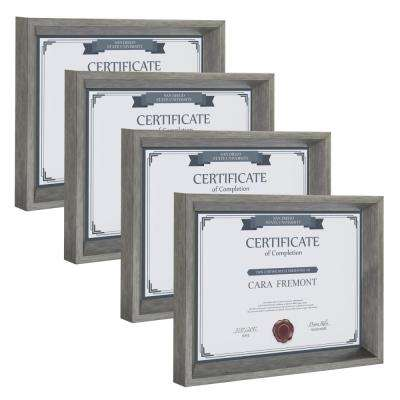 Calter 8.5 in. x 11 Silver Picture Frame (Set of 4)