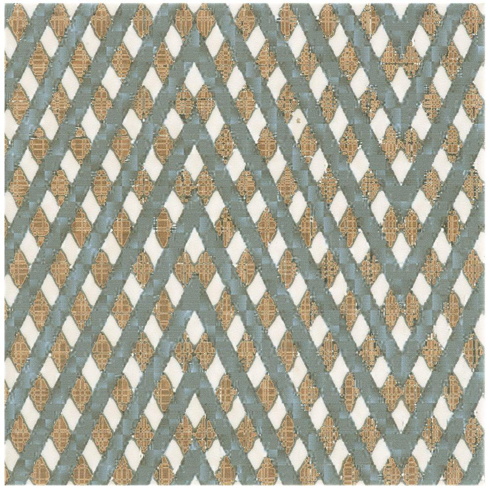 Boheme Grid 7-3/4 in. x 7-3/4 in. Ceramic Floor and Wall