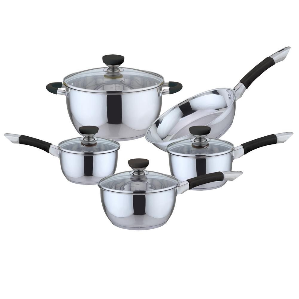 Culinary Edge 9 Piece Stainless Steel Cookware Set 2309 The Home Depot