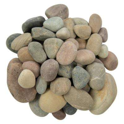 0.5 cu. ft . 0.25 to 1.25 inch Amazon Multi Pebbles. 40 lb. Bag
