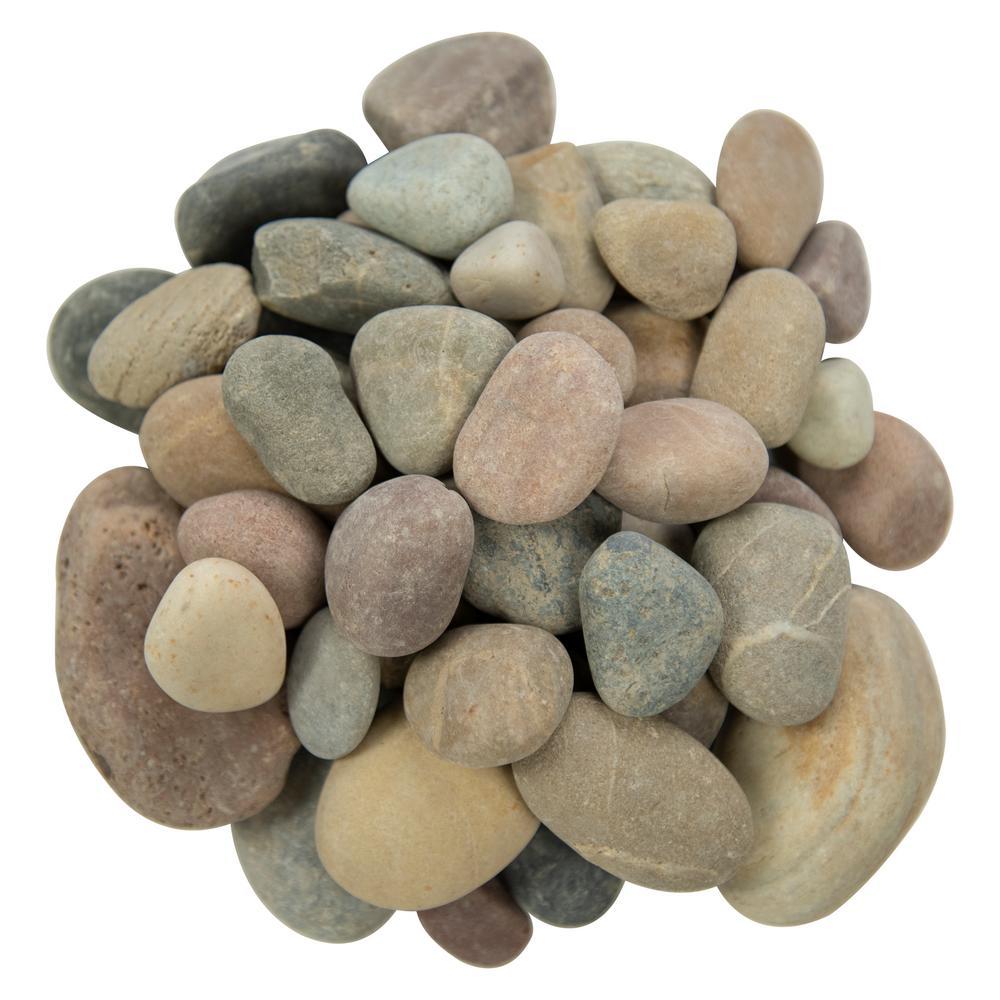 0.5 cu. ft . 0.25 to 1.25 inch Amazon Multi Pebbles. 40 lb. Bag (55 Bags / Pallet)