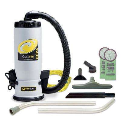 QuietPro BP HEPA 6 Qt. Backpack Vac with Carpet 2-Piece Wand Tool Kit
