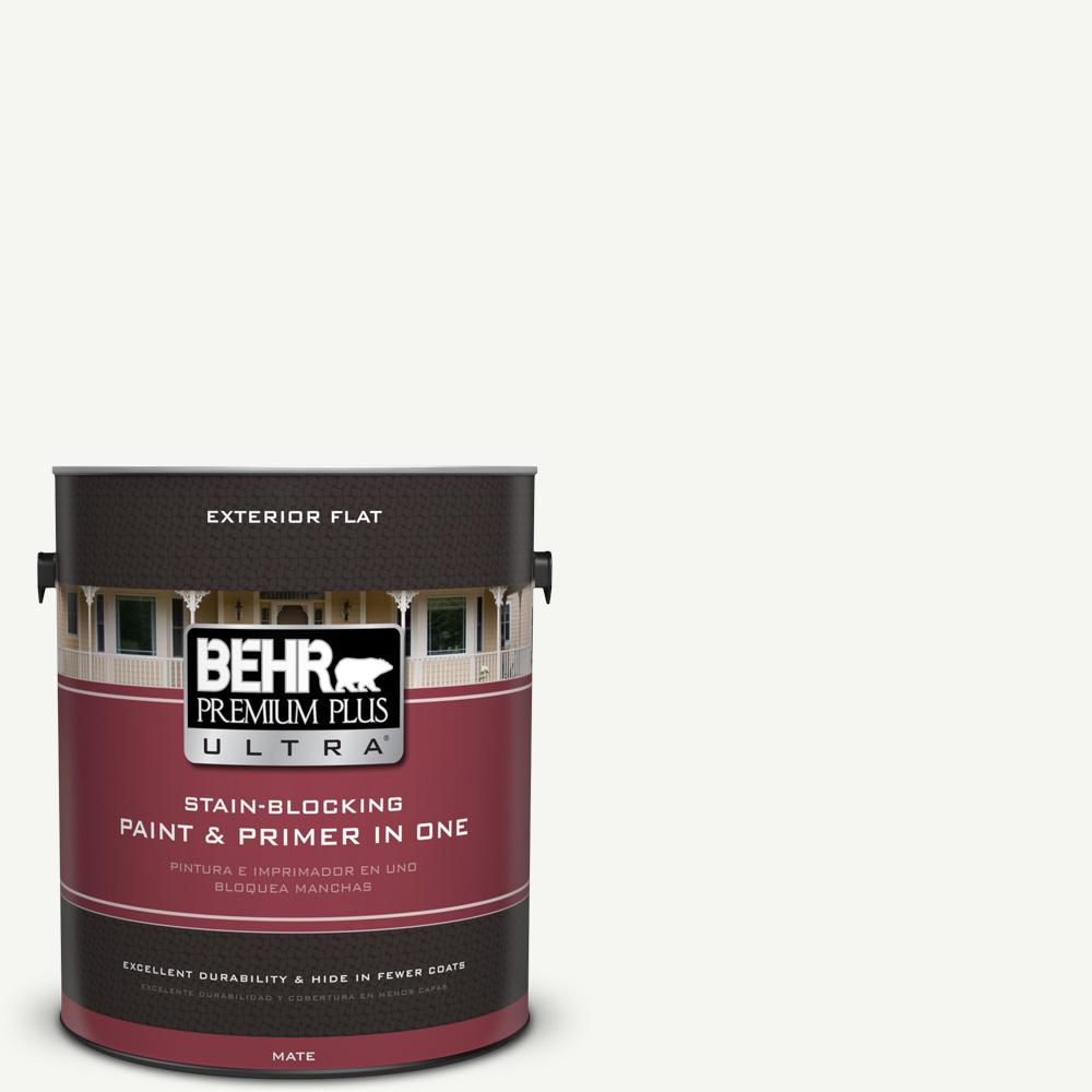 1 gal. #HDC-CT-18G Cotton Ball Flat Exterior Paint