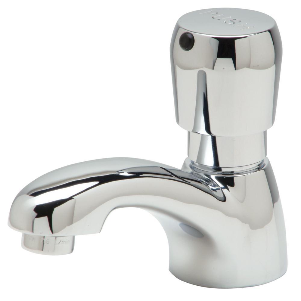Single-Handle Basin Metering Faucet in Chrome