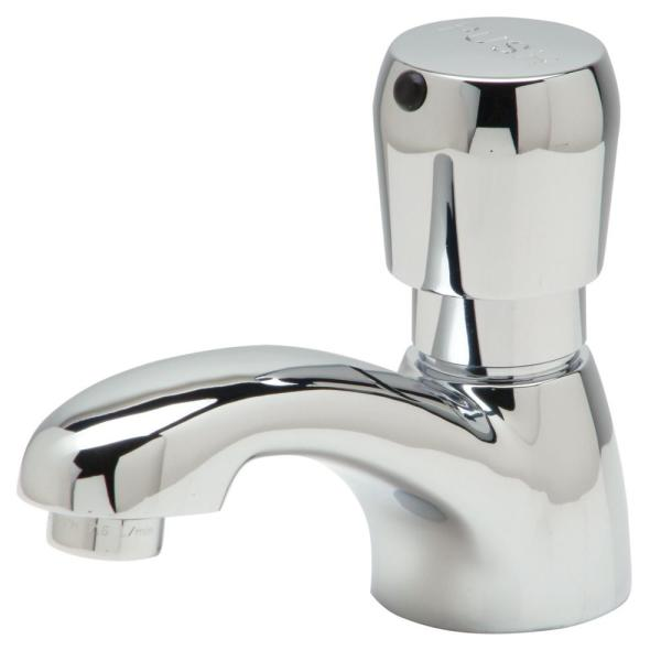 Single-Handle Basin Metering Faucet in Chrome