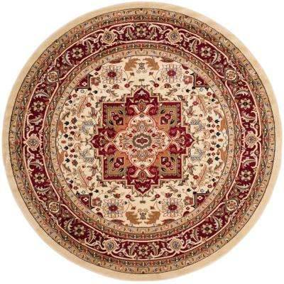 Lyndhurst Ivory/Red 10 ft. x 10 ft. Round Area Rug