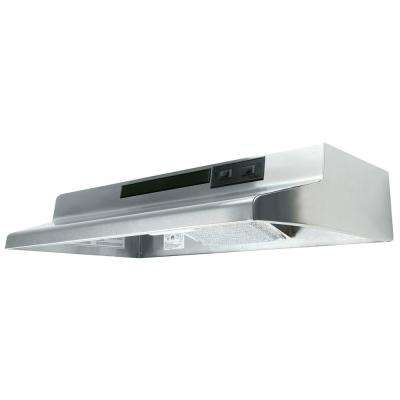 AV Series 36 in. Under Cabinet Convertible Range Hood with Light in Stainless Steel