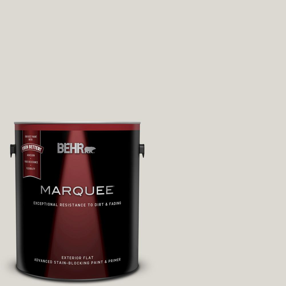 Behr Marquee 1 Gal 790c 2 Silver Drop Flat Exterior Paint And