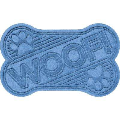 Medium Blue 24 in. x 36 in. Woof Pet Mat
