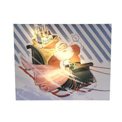 """15.75 in. LED Back Lit Santa Claus """"Your Good Old Friend"""" Pepsi Christmas Wall Art"""