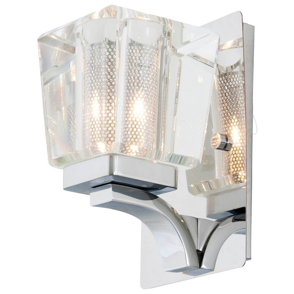 Adriana 1-Light Chrome Sconce