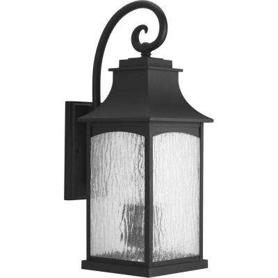 Maison Collection 3-Light Black 23.75 in. Outdoor Wall Lantern Sconce