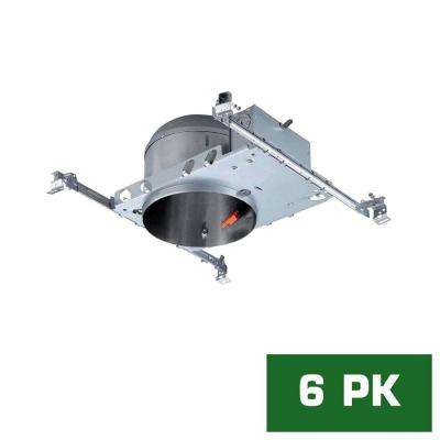 6 in. LED Recessed Housing Shallow Height, New Construction Can (6-Pack)