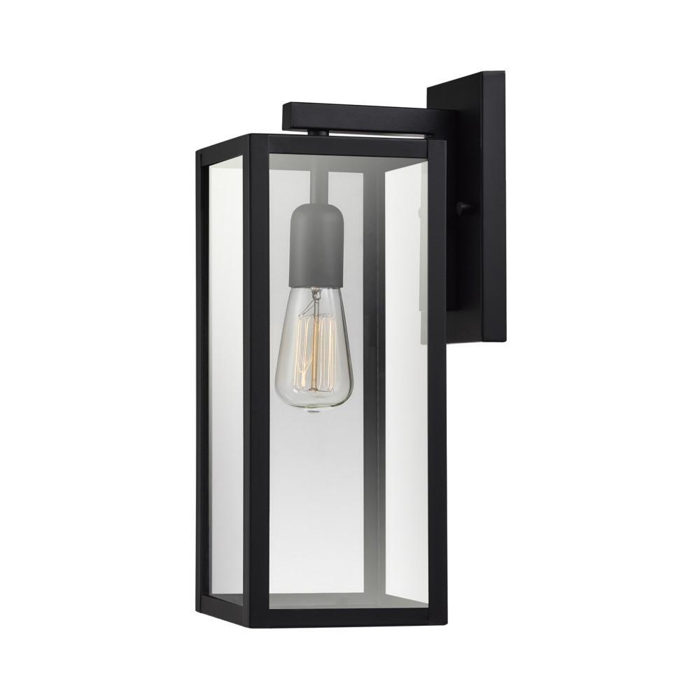 Hurley 1-Light Black Outdoor Wall Lantern Sconce