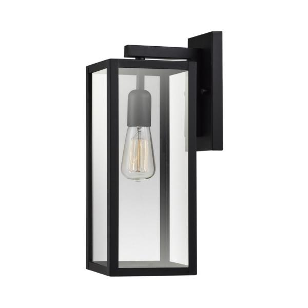 Hurley 1-Light Black Outdoor Wall Lantern Sconce