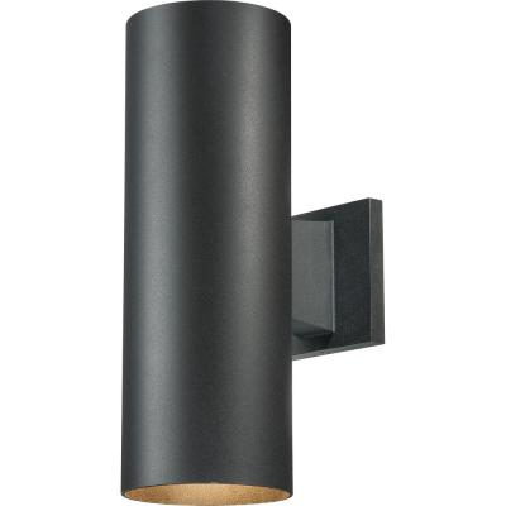 Medium Base Light Black Aluminum Outdoor Cylinder Wall Mount Lantern Sconce