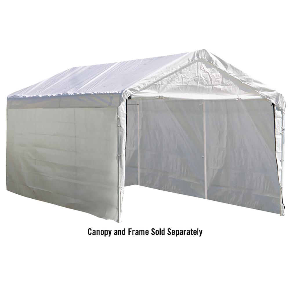 ShelterLogic Enclosure Kit for Super Max 12 ft. x 20 ft. White Canopy ( Canopy and Frame Not Included)-25774 - The Home Depot  sc 1 st  The Home Depot & ShelterLogic Enclosure Kit for Super Max 12 ft. x 20 ft. White ...