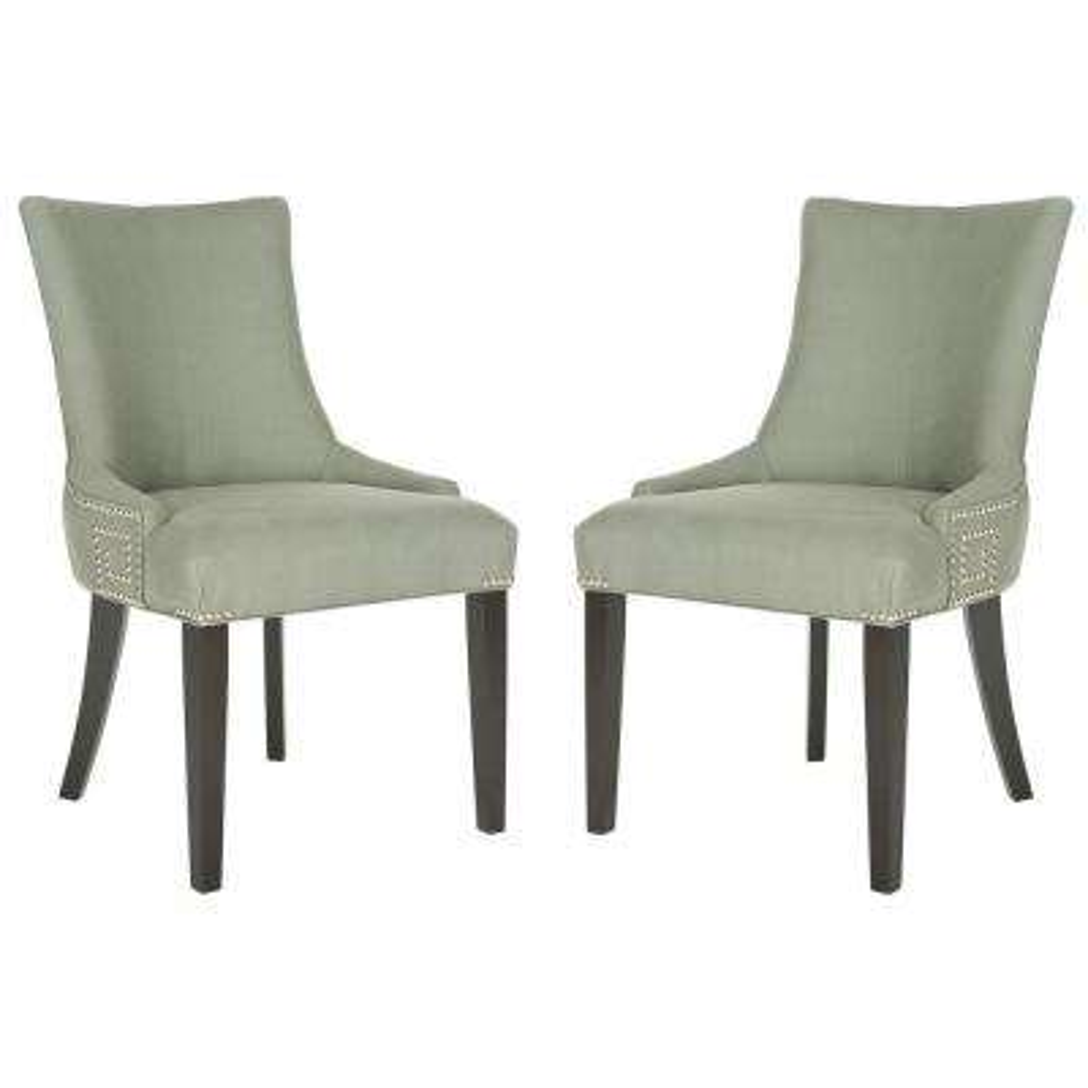 Gretchen Granite/Espresso Linen Side Chair (Set of 2)