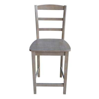Madrid 24 in. H Weathered Taupe Gray Counter Stool