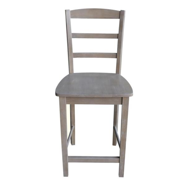 International Concepts Madrid 24 in. H Weathered Taupe Gray Counter Stool