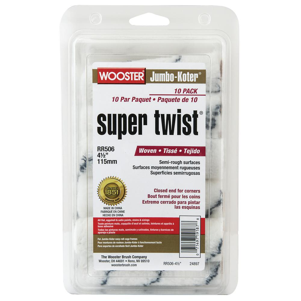 Wooster 4-1/2 in. Jumbo-Koter Super Twist (10-Pack)