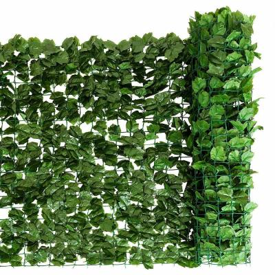 59 in. x 118 in. Plactic Faux Ivy Leaf Decorative Artificial Privacy Fence in Green