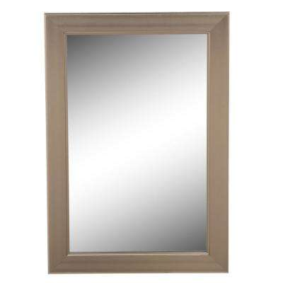 24 in. W x 35 in. L Framed Fog Free Wall Mirror in Brushed Nickel