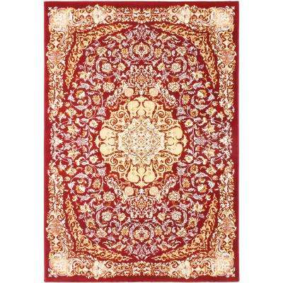 Persia Tabriz Dark Red 4 ft. x 5 ft. Area Rug