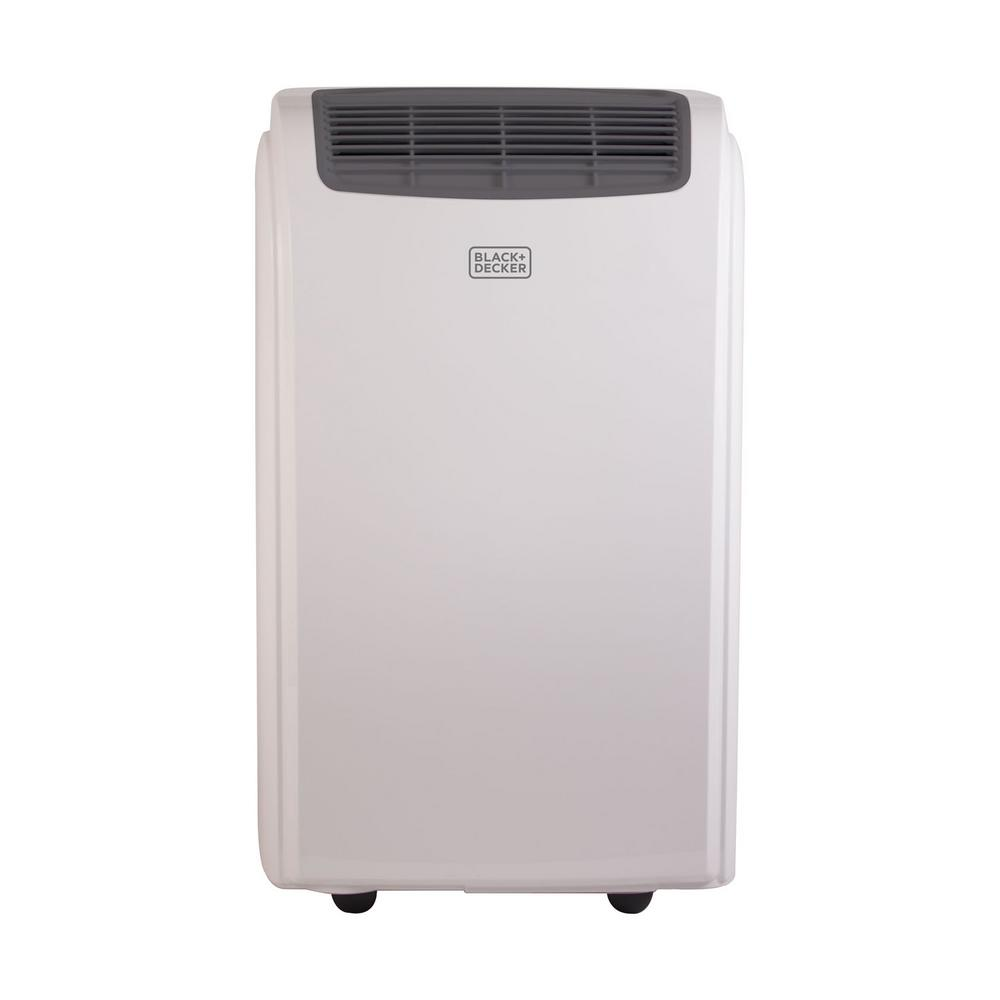 BLACK+DECKER 8,000 BTU Portable Air Conditioner In White With  Dehumidifier BPACT08WT   The Home Depot