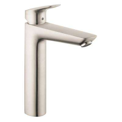 Logis 190 Single Hole Single-Handle Bathroom Faucet in Brushed Nickel