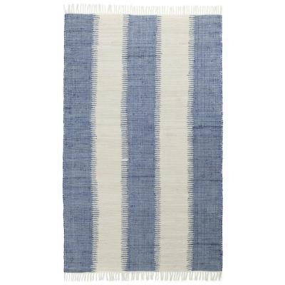 Blue Jagged Chindi 5 ft. x 8 ft. Area Rug
