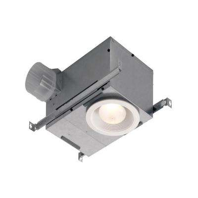 70 CFM Recessed Ceiling Mount Exhaust Fan with LED Lighting, ENERGY STAR