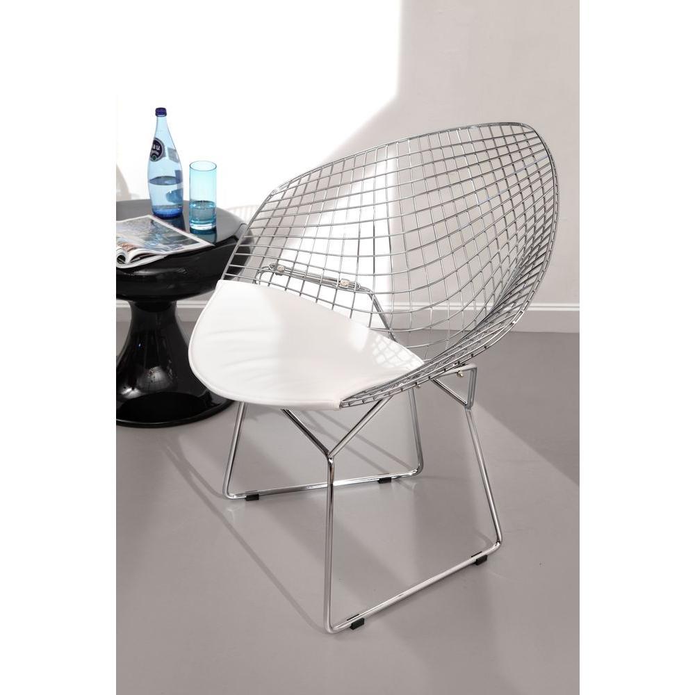 Etonnant ZUO Chrome Metal Net Chair (Set Of 2)