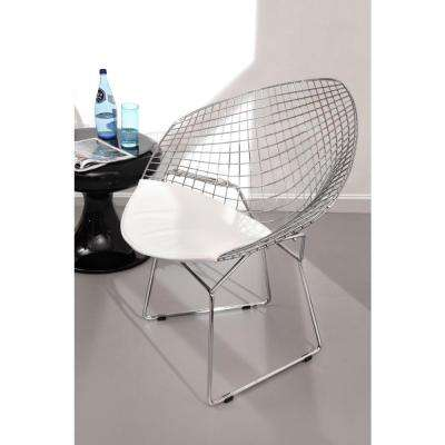 Chrome Metal Net Chair (Set of 2)