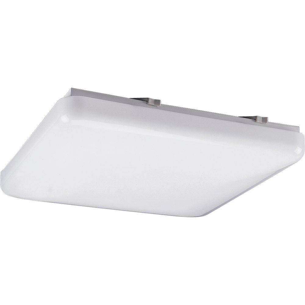 Can A Fluorescent Light Fixture Go Bad: Progress Lighting 3-Light White Fluorescent Fixture-P7381