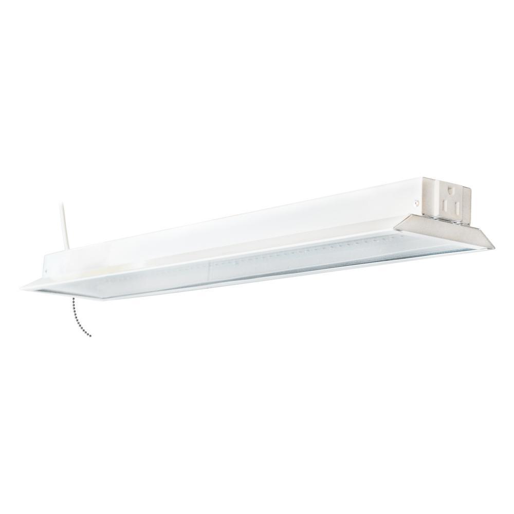 8 Ft Shop Lights Home Depot: Stonepoint LED Lighting 2 Ft. White Metal Integrated LED
