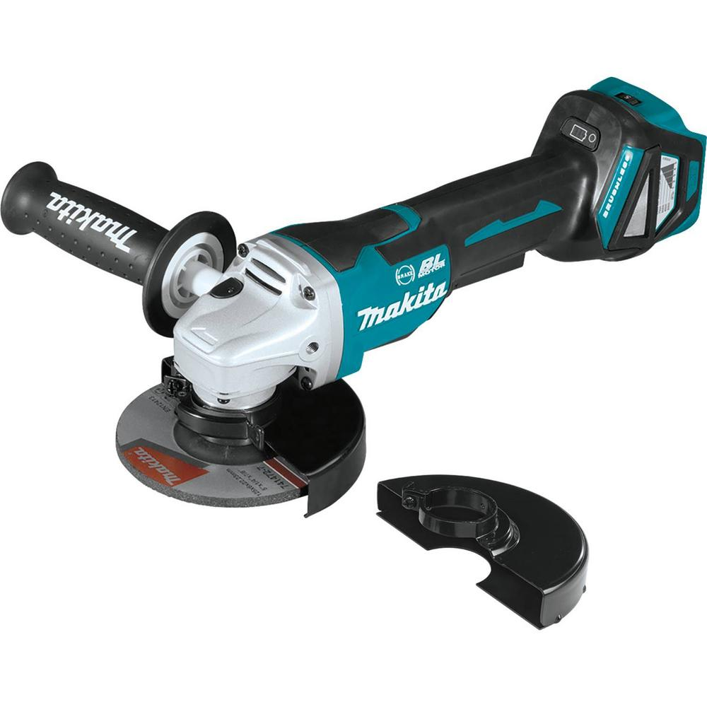 Makita 18-Volt Brushless 4-1/2 in. / 5 in. Cordless Paddle Switch Cut-Off/Angle Grinder with Electric Brake (Tool Only)
