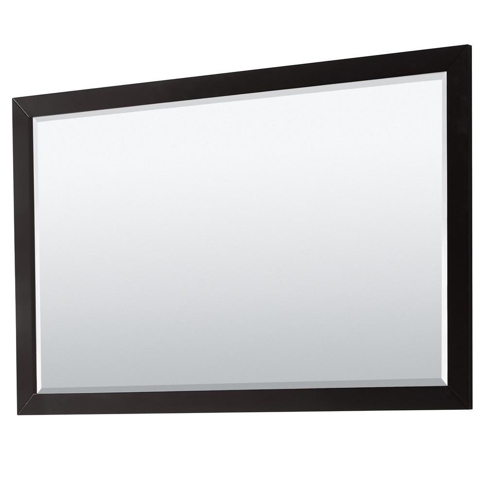 Daria 58 in. W x 36 in. H Framed Rectangular Bathroom Vanity Mirror in Dark Espresso