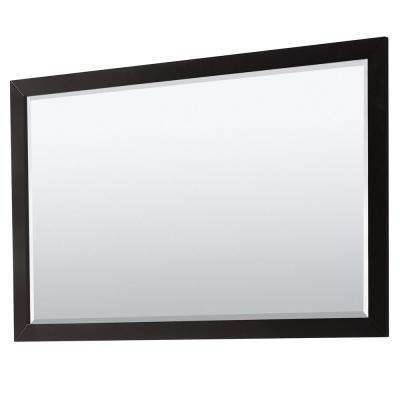 Daria 58 in. W x 33 in. H Framed Wall Mirror in Dark Espresso