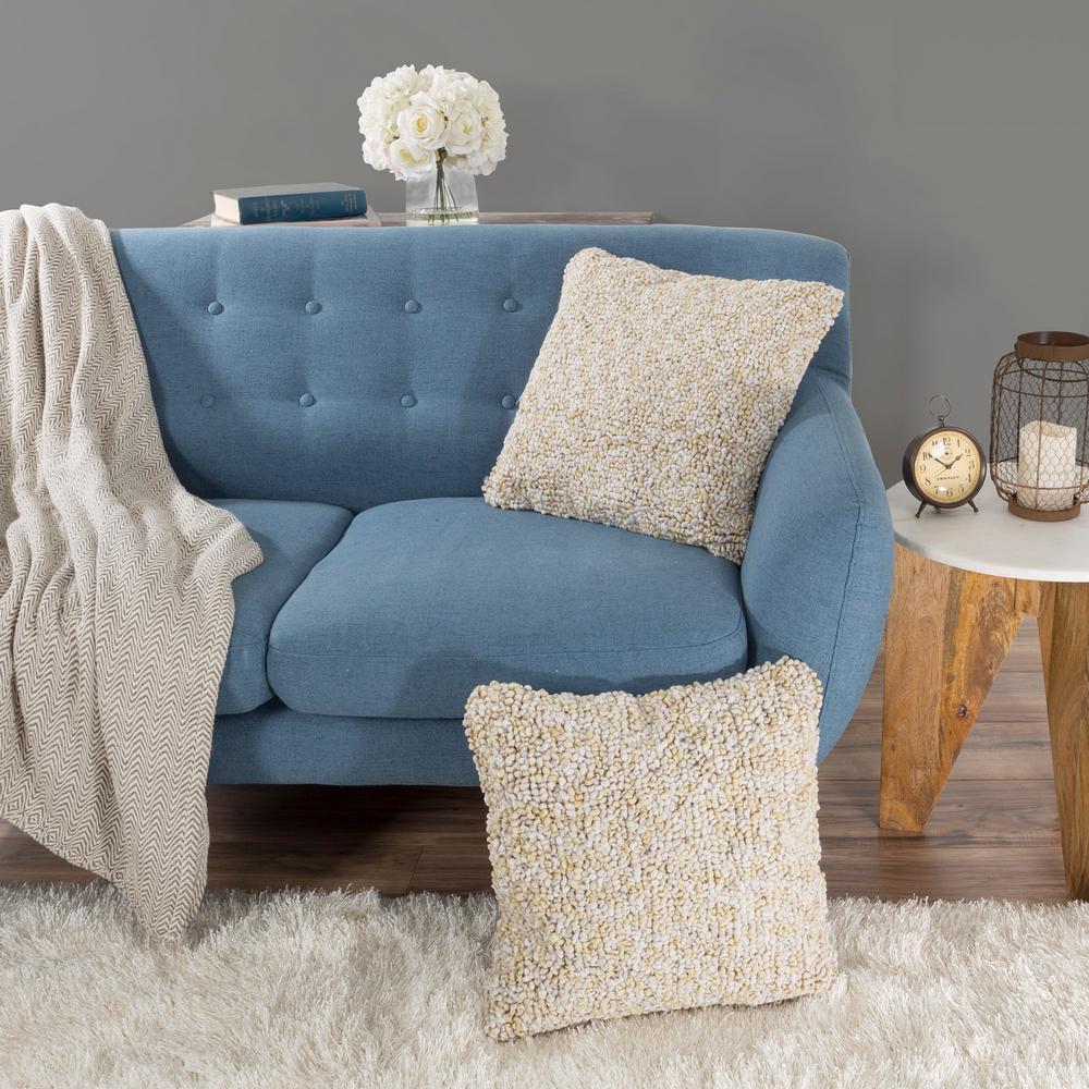Modern Ombre Loop Beige Decorative Pillow