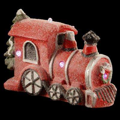 11 in. Magnesia Train Ornament with Battery Operated LED Lights