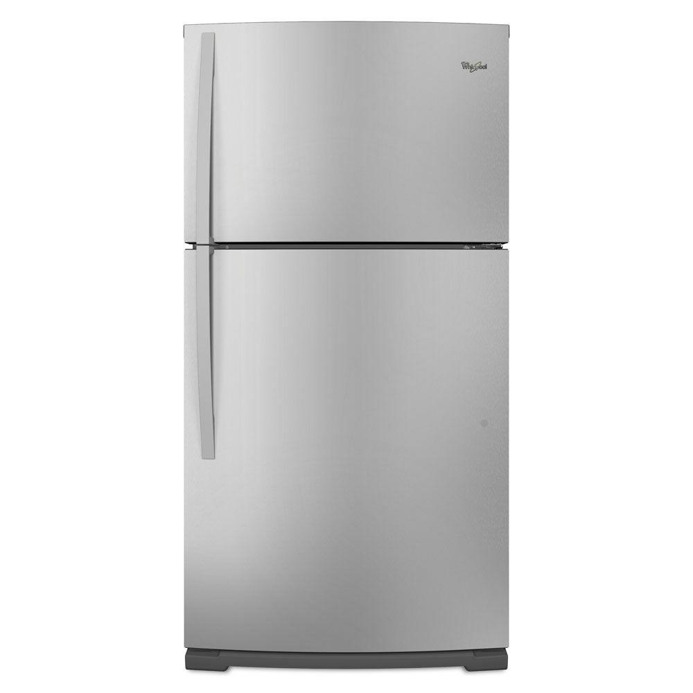 Whirlpool 21.1 cu. ft. Top Freezer Refrigerator in Monochromatic Stainless Steel-DISCONTINUED