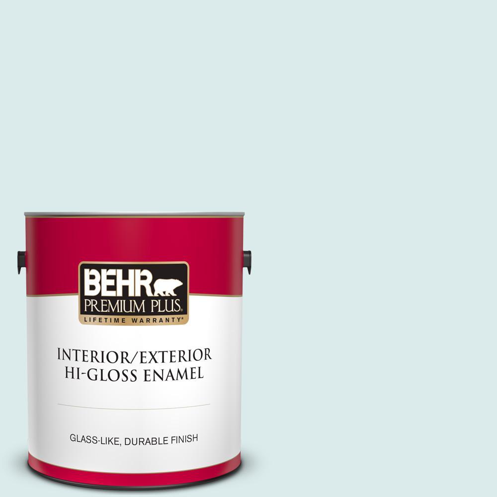 Behr Premium Plus 1 Gal S160 1 Iced Cherry Hi Gloss Enamel Interior Exterior Paint 805001 The Home Depot