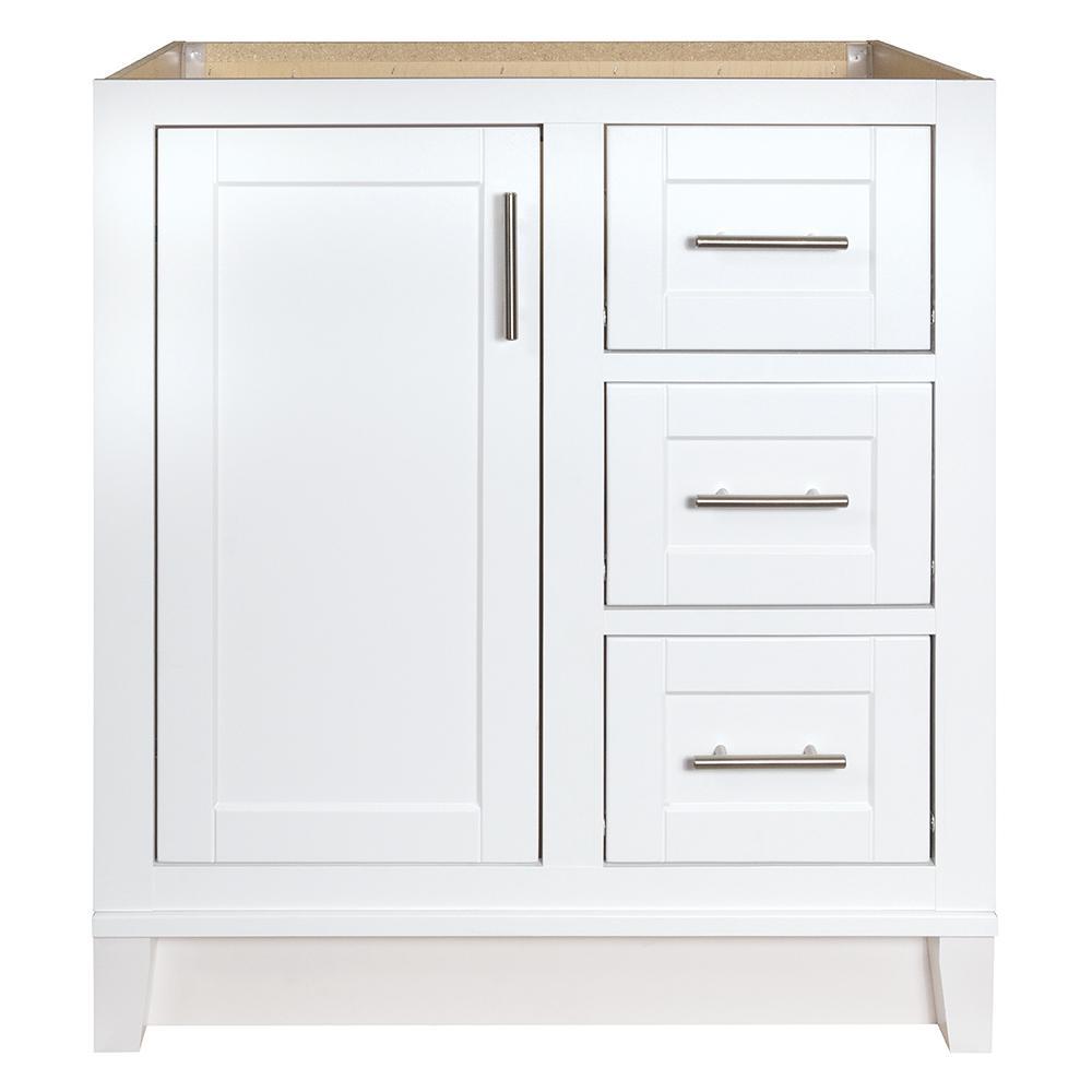 Kinghurst 30 in. W x 21 in. D x 33.5 in. H Bathroom Vanity Cabinet Only in White