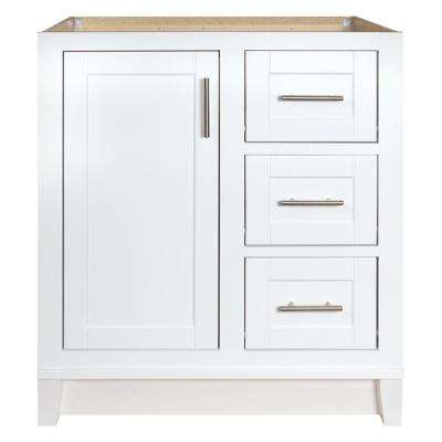 Kinghurst 30 in. W x 21 in. D x 33.5 in. H Bathroom Vanity Cabinet Only in White