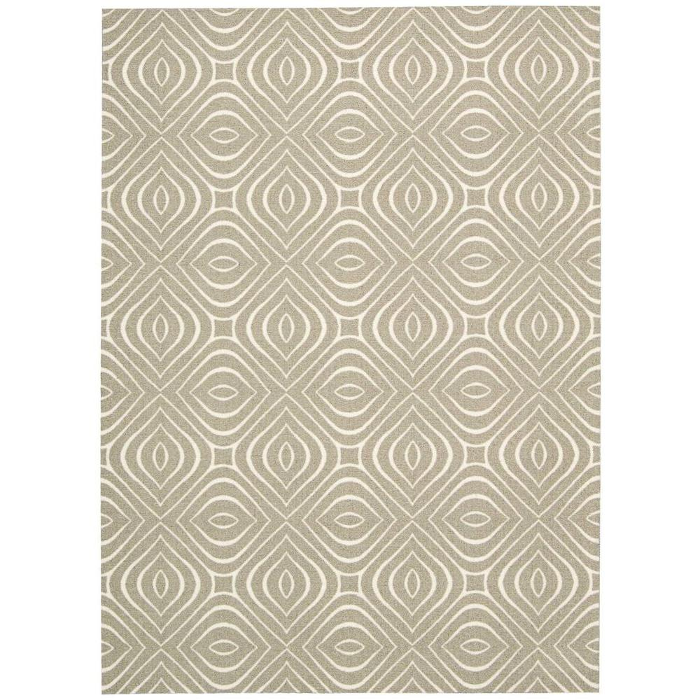 Nourison Overstock Enhance Ivory/Grey 8 ft. x 10 ft. Area Rug