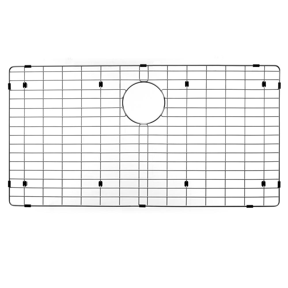 HOUZER Wirecraft 17.25 in. x 33.25 in. Bottom Grid for Kitchen Sinks in Stainless Steel