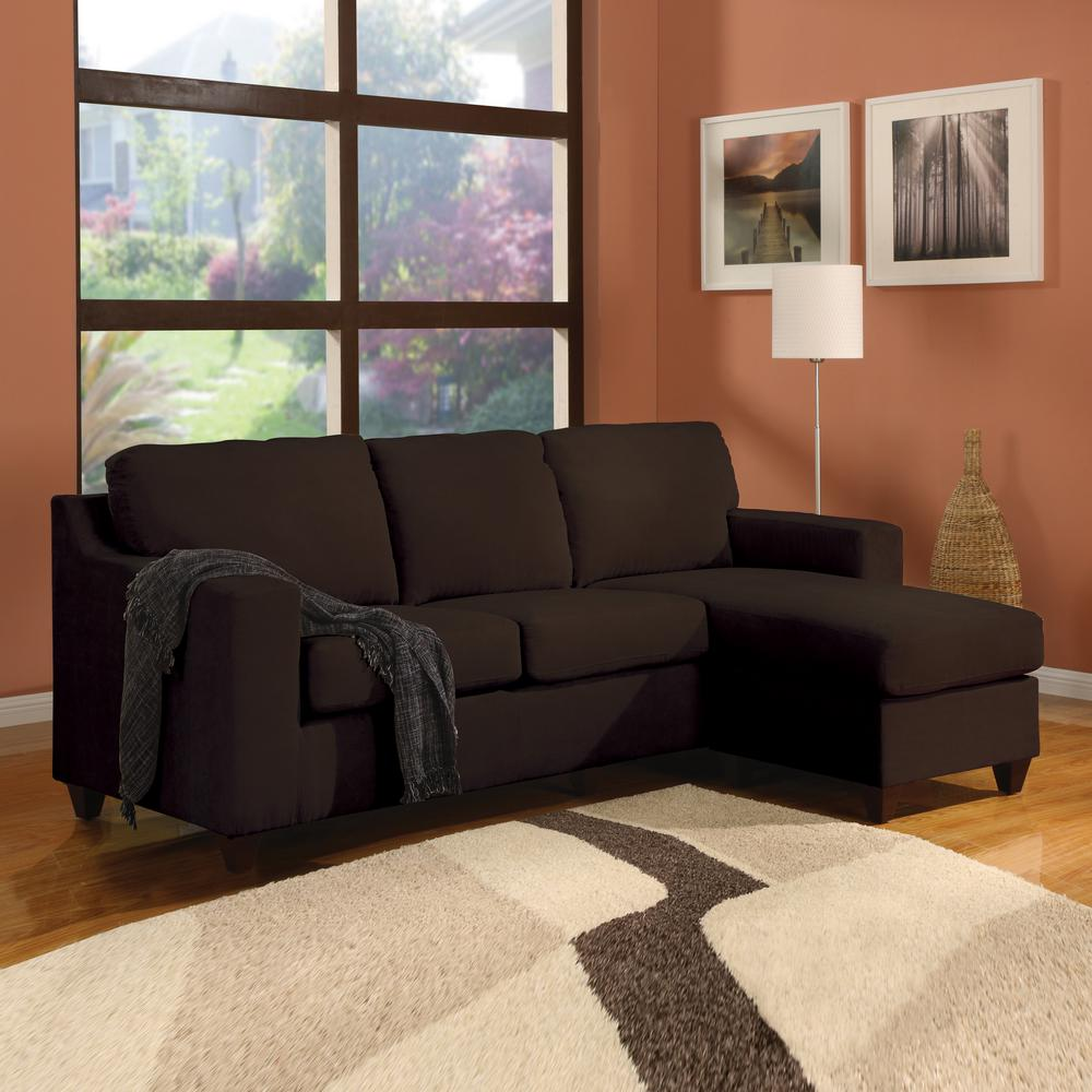 ACME Furniture Vogue Chocolate Micro Fiber Sectional Sofa