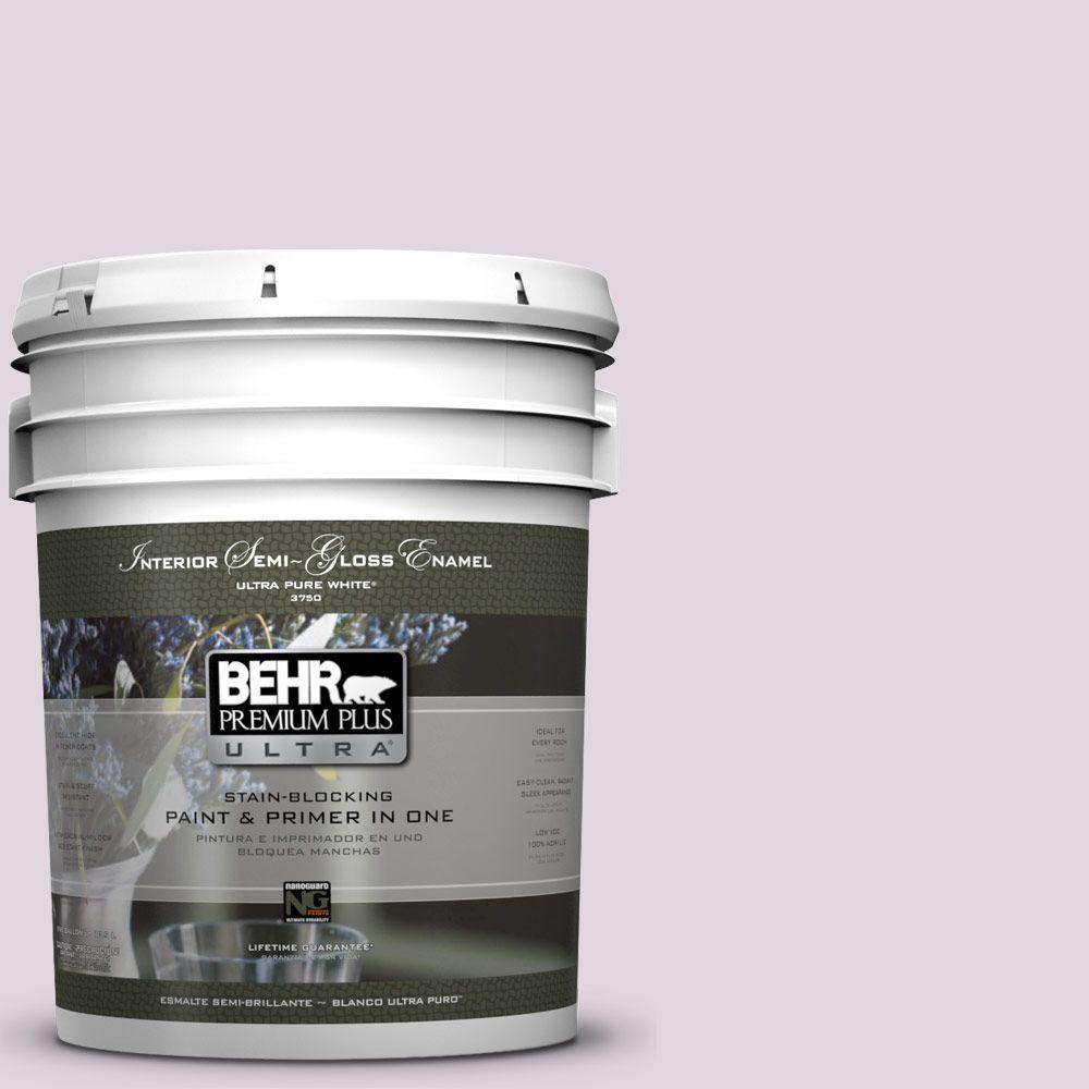 BEHR Premium Plus Ultra 5-gal. #S110-1 Secret Scent Semi-Gloss Enamel Interior Paint