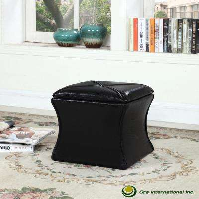 Black Croc Svelte Storage Seating